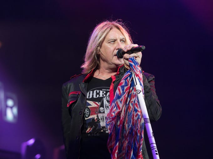 Def Leppard performs at Ak-Chin Pavillion, Wednesday,