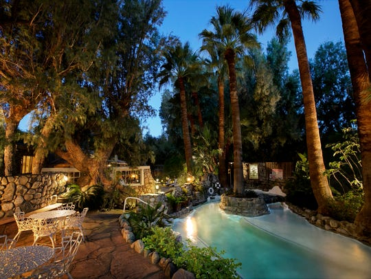 The grotto area at Two Bunch Palms resort in Desert