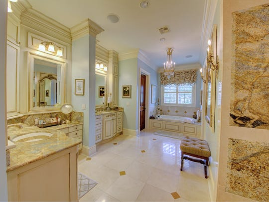 The master bath is an exquisite retreat in the home.
