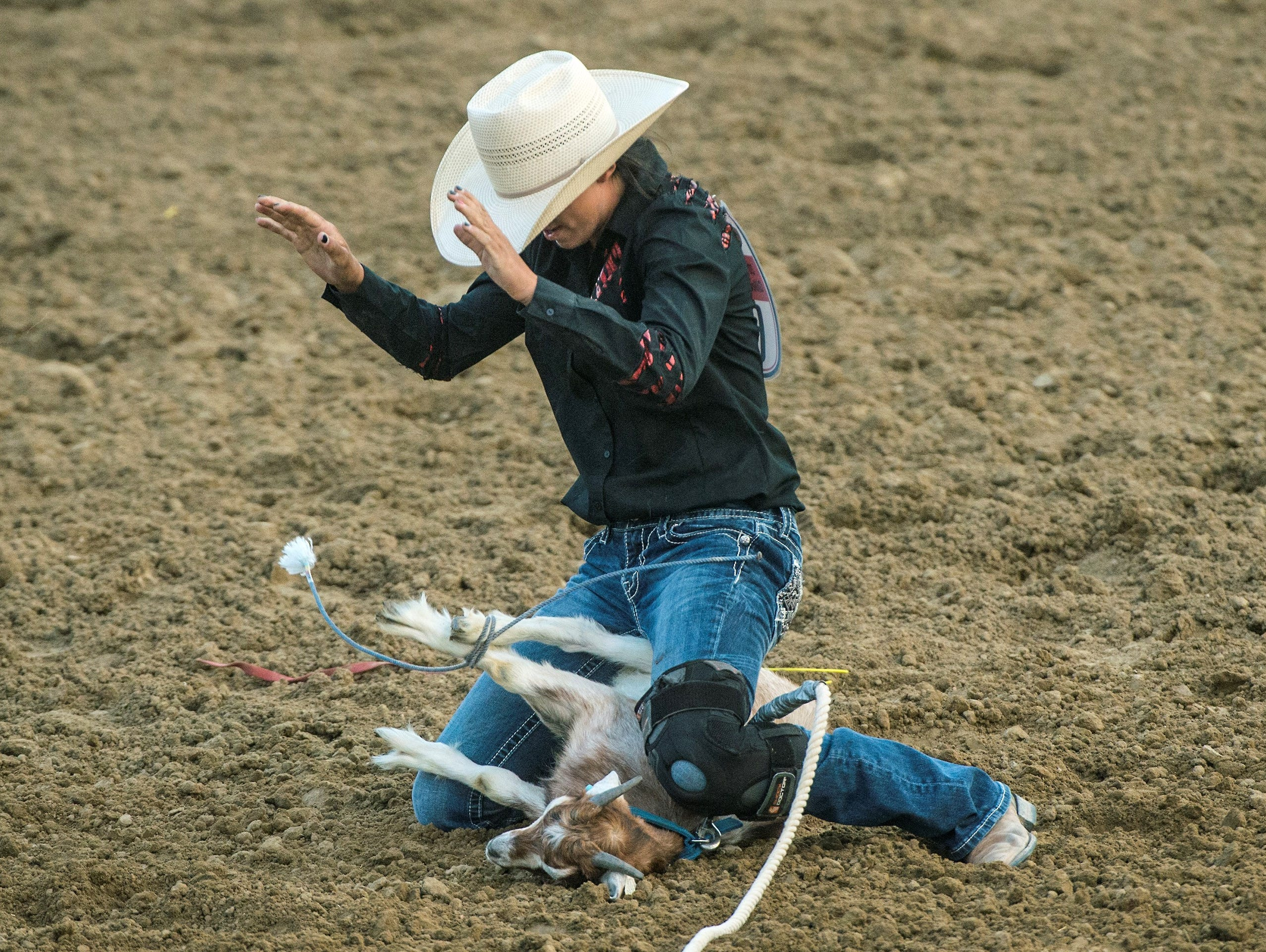 Dammeron Valley cowgirl Kaytlyn Miller won the goat tying championship at last week's National High School Finals Rodeo.