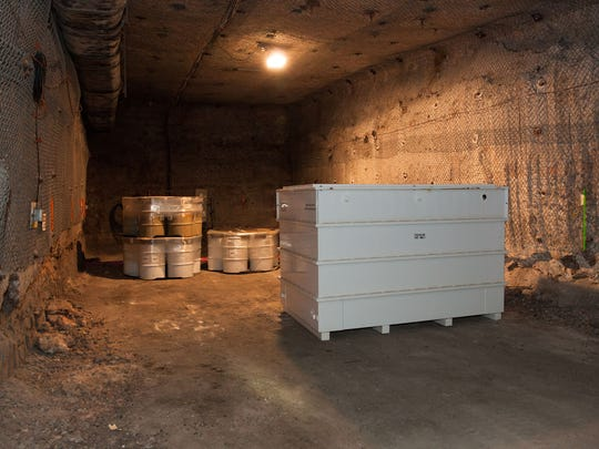 A space in the underground was designated to simulate Panel 7 and was used to emplace dunnage.