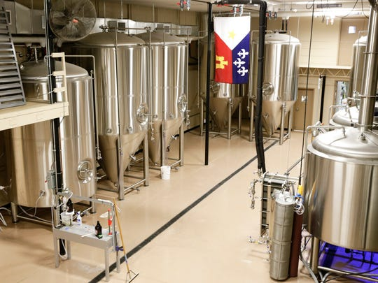 The fermentation area of  at Cajun Brewing Sept. 26, 2016 in Lafayette. The brewery's taproom opens Thursday.