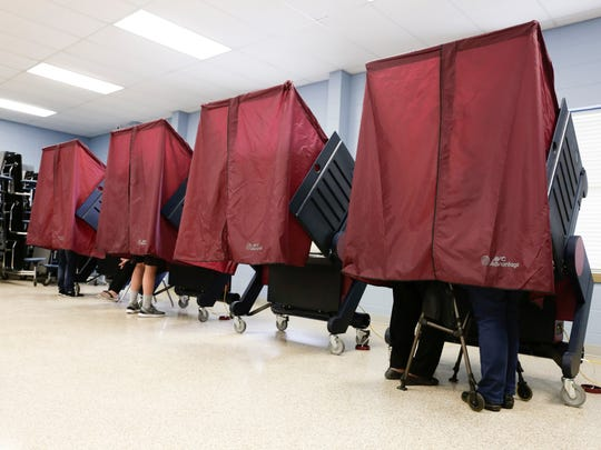 Voting takes place at Richard Elementary School on Election Day in Richard Nov. 8, 2016.