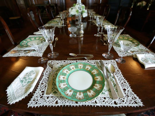 The dining room at the Edsel and Eleanor Ford House