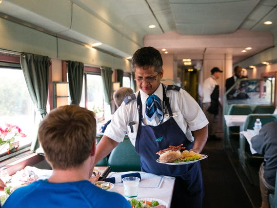 Services on Amtrak's Silver Service trains include