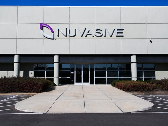 February 17, 2017 - NuVasive Inc., a medical device maker based in San Diego, received a $9 million Pilot tax break that works out to $600,000 worth of tax savings for each job created. The global distribution center is located at 4670 E Shelby Dr.