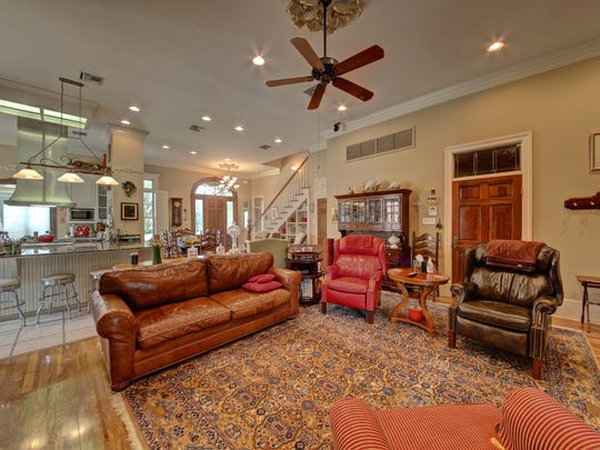 The living areas are open for a relaxed flow in the home.