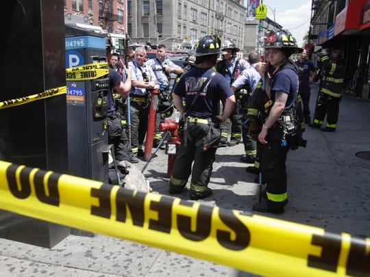 The A train derailed near the 125th station in Manhattan