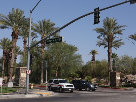 13 patrons were evaluated by medics at the Marriott Shadow Ridge resort in Palm Desert after experiencing breathing issues by the pool.