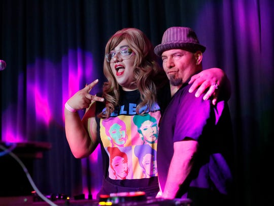 In this file photo, event host DJ Ayumi Winehouse, left and Joey Martinez pose for a photo during the eighth annual Salinas Valley Pride After Party at the Fox Theater on October 7, 2017 in Salinas. Vernon McKnight/for The Californian