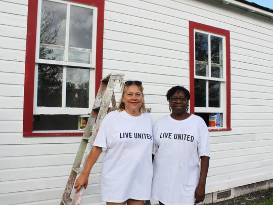 Volunteers Cate Wenzing and Jonnie Mae Perry at the Historic Macedonia Church in Gifford.