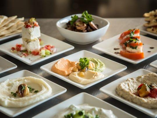 Items from the tapas menu at Pita Jungle.