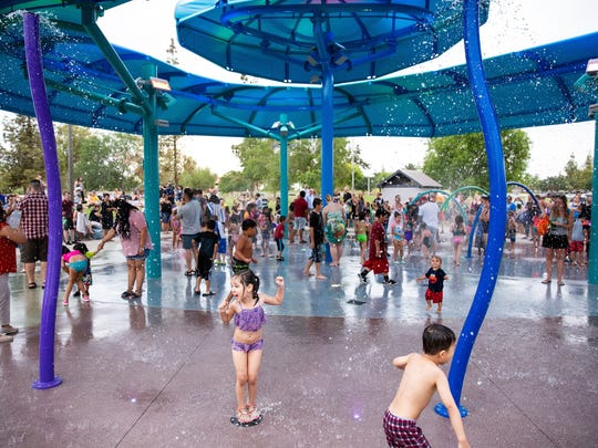 A new splash pad opened at Kiwanis Park on June 15, 2018.