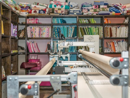 Sheila's quilting room.