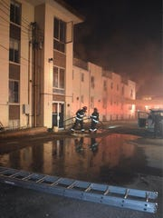 Indianapolis firefighters battled a blaze on Wednesday, Dec. 7, 2016,  at a hotel at 5117 E. 38th Street. More than 40 people were evacuated and one resident later died of his injuries.