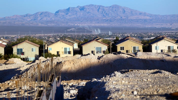 Land is prepared for development at Skye Canyon, a