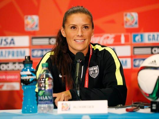 """U.S. women's soccer player Ali Krieger calls her mascara """"war paint."""""""