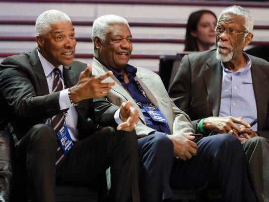 Julius Erving, Oscar Robinson, Bill Russell