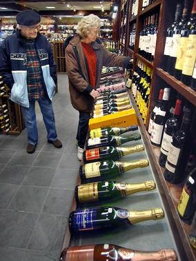 A selection of wines for sale at Arlington Wine and Liquor Store on Rt. 44 in Poughkeepsie.