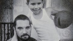 Shawn Swoyer, left, and his son Zach in a photo taken