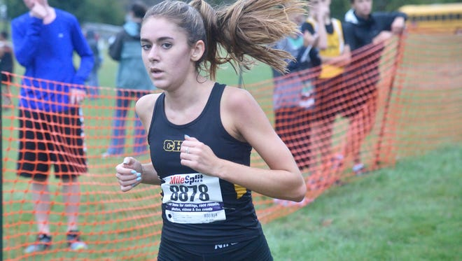 Cresskill's Veronica Dunphy finished second in the Patriot Division race at the NJIC Cross Country Championship at Garret Mountain in Woodland Park