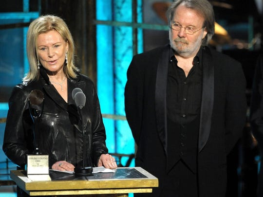 Inductees Anni-Frid Princessan Reuss and Benny Andersson