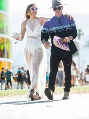 Sheer skirts are one of the most popular fashion trends at Coachella 2018.