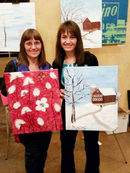 Laurie Kuykendall Kepner, left, with her sister, Karen Nordsick, after they participated in a painting class at Moon Dancer Winery. This is the last photo taken of the sisters before Laurie was killed by her husband on May 29. Nordsick said Laurie left her husband, Martin Kepner, in December, and moved into her own apartment. Nordsick and her family have decided to donate Laurie's furniture to ACCESS-York to help other women.
