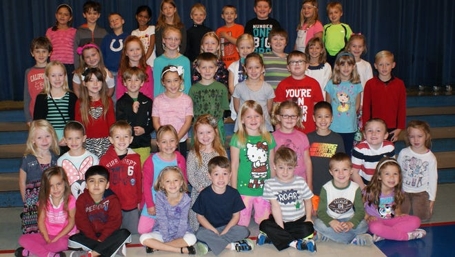 Yorktown's Pleasant View Elementary Students of the month for October 2015.