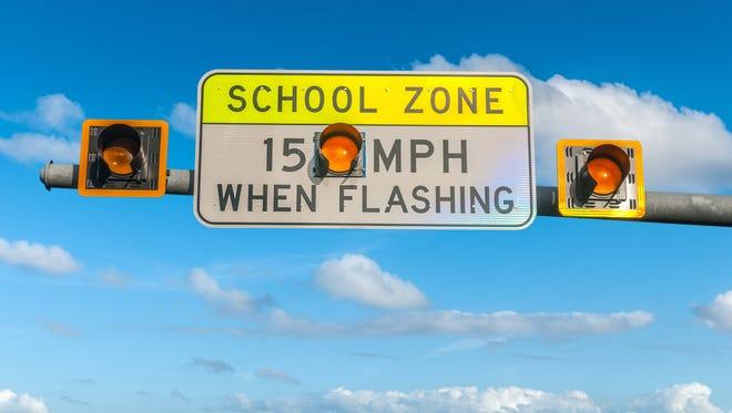 School zone lights.