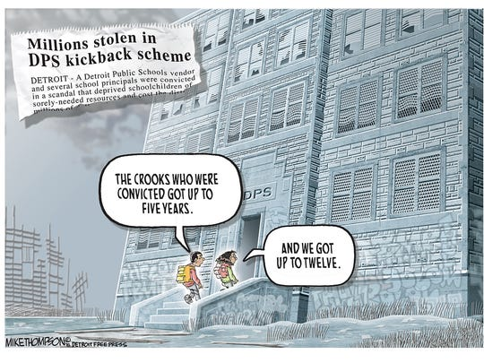 Poor Detroit kids pay the price for corruption.