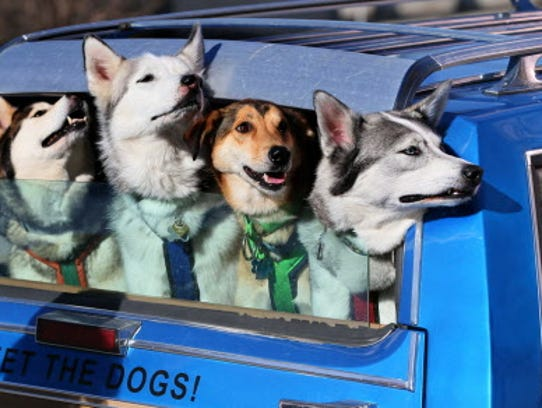The Door County Sled Dogs will be on hand at the Milwaukee