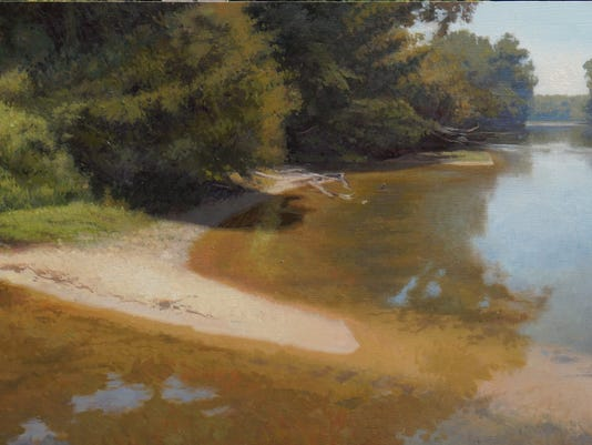 635799003610759038-201509-Golden-Shallows-on-the-French-Broad-20x48in-oil-on-panel