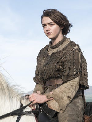 "Arya Stark in ""Game of Thrones."""