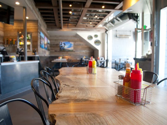 Cat Cora's hamburger joint in Santa Barbara opened in January.