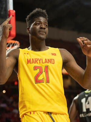 Former Maryland forward Makhi Mitchell has been granted immediate eligibility at URI. Mandatory Credit: Tommy Gilligan-USA TODAY Sports
