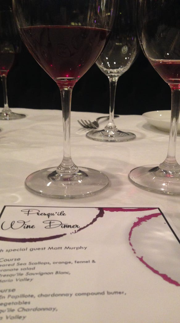 Charley G's Presqu'ile wine dinner offered more than