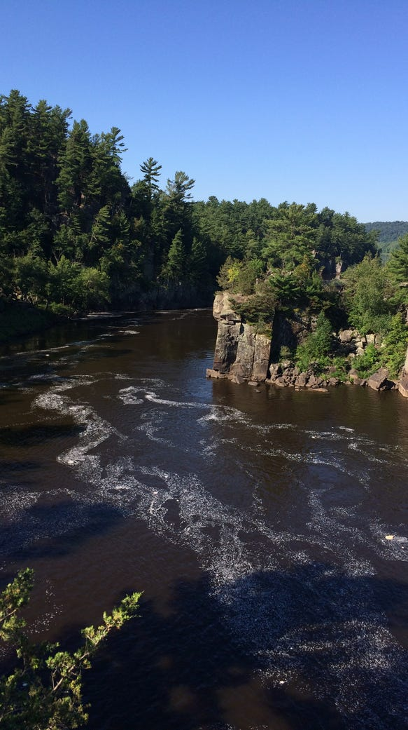 The view of the St. Croix River from the bluffs of