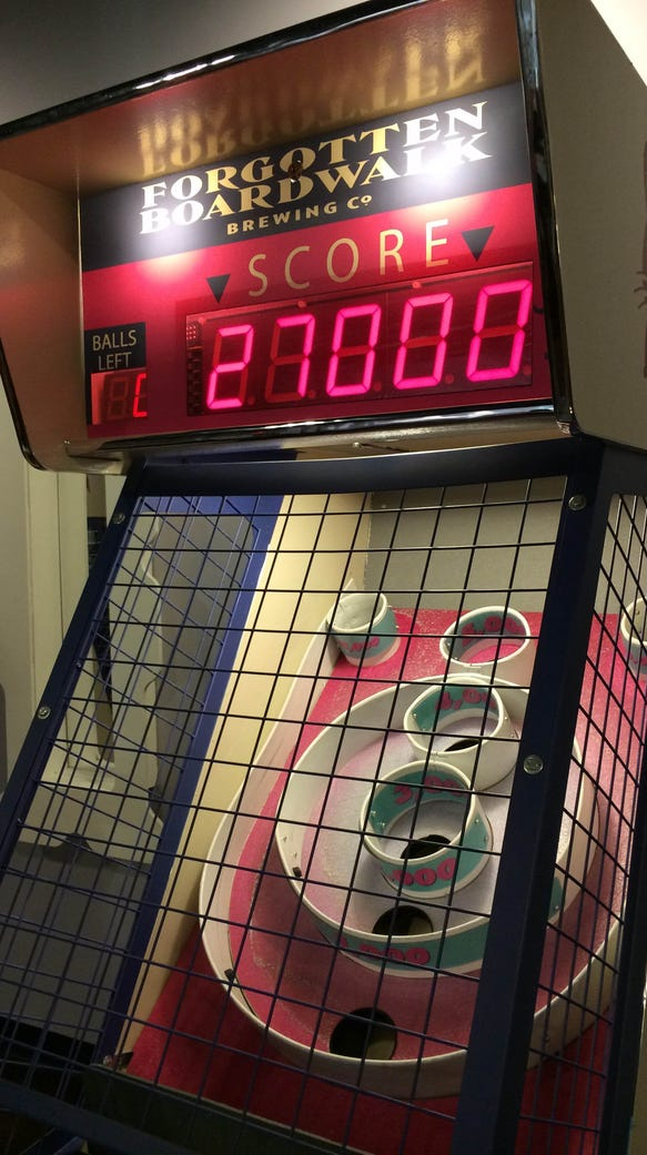 Fans of SkeeBall have an added reason to visit Forgotten