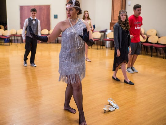 Paige Andrepont, 15, attempts a Charleston dance during