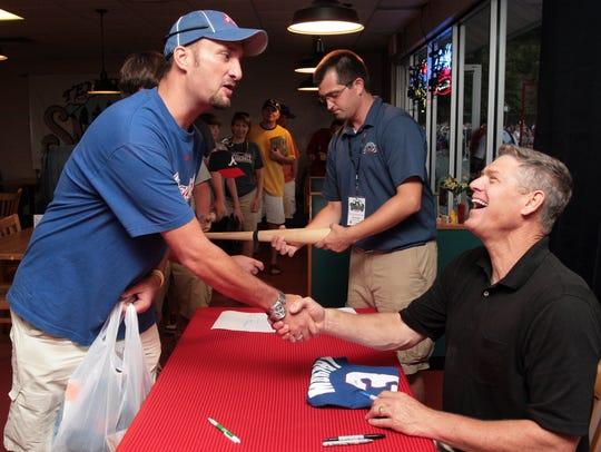Former Atlanta Braves baseball player Dale Murphy,