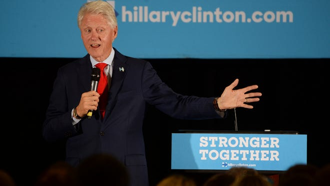 Former President Bill Clinton speaks Sunday, Oct. 30, 2016, at a  Charlotte Early Vote Event at Hickory Grove Recreation Center,  in Charleston, NC.