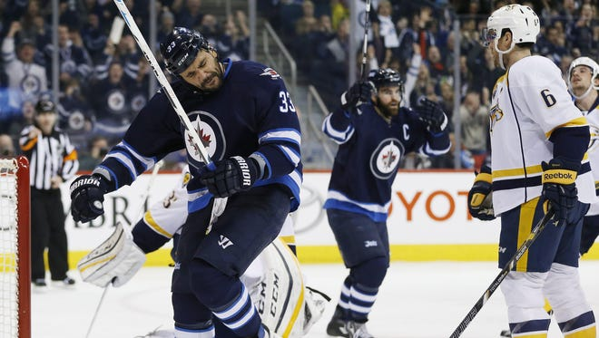 The Predators lost to the Jets 5-4 in overtime Thursday. The two teams meet again in Winnipeg this week.
