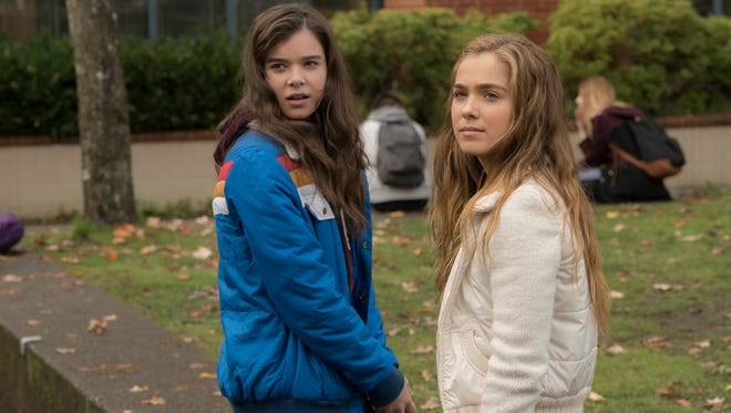 """Hailee Steinfeld (left) and Haley Lu Richardson star in """"The Edge of Seventeen,"""" new in movie theaters."""
