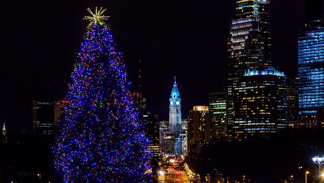 Philadelphia's holiday offerings include ice skating at RiverRink Winterfest and the Macy's Christmas Light Show.