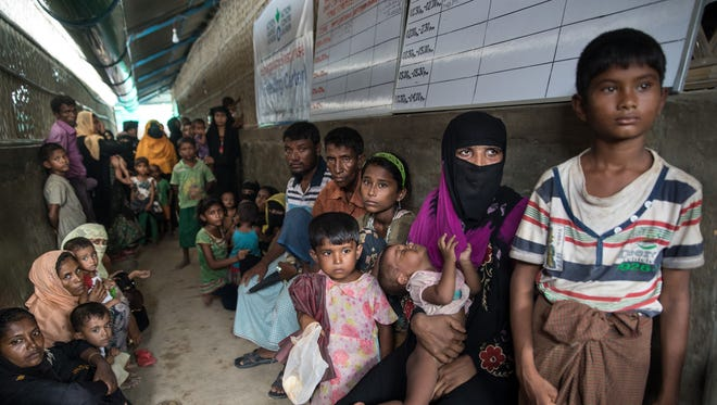 Rohingya Muslims in Cox's Bazar, Bangladesh, on Sept. 24, 2017.