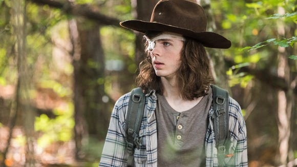 Chandler Riggs as Carl Grimes on 'The Walking Dead.'