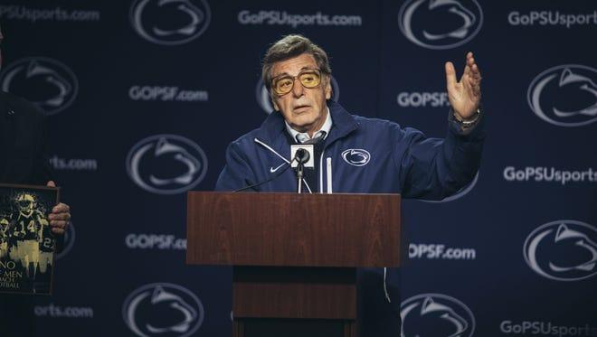 "Al Pacino plays legendary Penn State football coach Joe Paterno in the HBO film ""Paterno."""