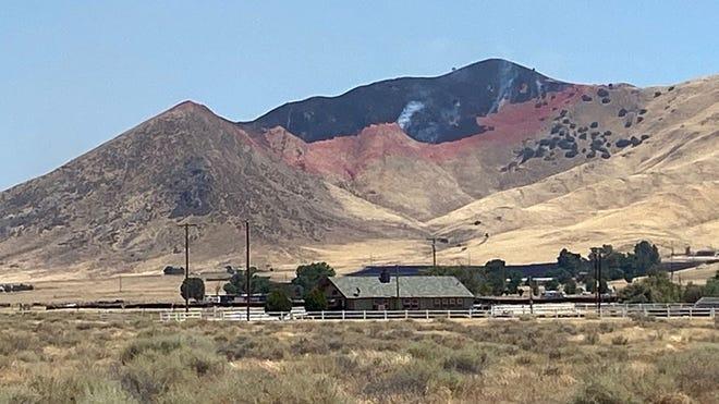 Soda Fire burning near California Valley blackened 125 acres