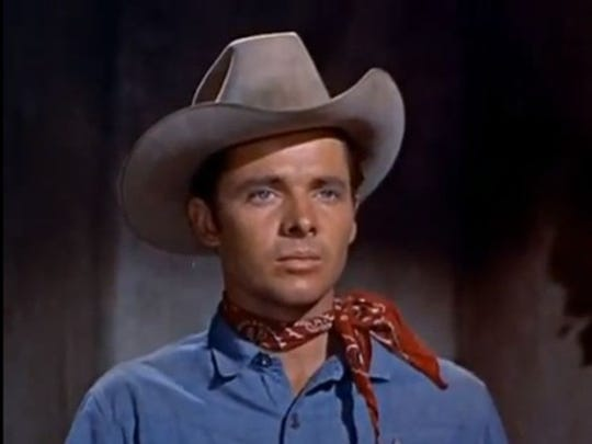 This is how many people remember Audie Murphy, from his many westerns.